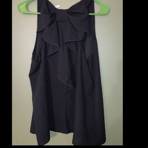 Dressy tank with large bow on back